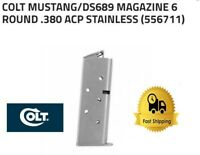 COLT MUSTANG 380 ACP FACTORY 6RD STAINLESS STEEL MAGAZINE SPC556711 OEM