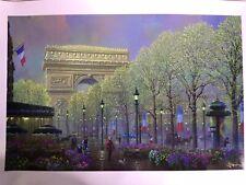 Alexander Chen Arc de Triomphe Paris Limited Edition Seriolithograph Hand Signed