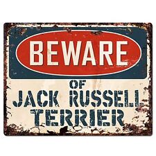 PP1520 Beware of JACK RUSSELL TERRIER Plate Rustic Chic Sign Home Store Decor