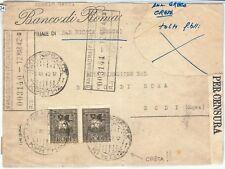 71434 - colonie Italiane EGEO - BUSTA con annullo GRECO di CRETA! 1942 - Censura