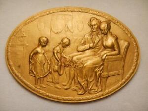 Austria 1910 Oval Bronzes by Medalist Franz Kounitzky Two (2) Pieces-AE & Gilt