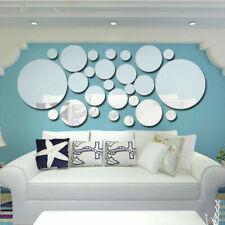 Adesivi e decalcomanie da parete in argento per la decorazione della casa, tema arte