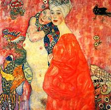 GUSTAV KLIMT :: THE GIRLFRIENDS : 24 INCH VIENNA SECESSION FINE ART CANVAS PRINT