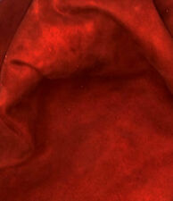 Burgundy Suede Lamb Skin Craft Leather Nice, Soft, Whole Skins!