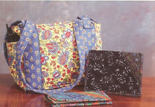 New Tote Purse Handbag Pattern Uses PreQuilted Fabrics with Borders   2 Projects