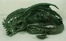 LARGE SLEEPING DRAGON STATUE Resin NEW Serpent Gothic Fantasy Horror Monster LE