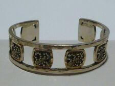 LOIS HILL STERLING SILVER HAMMERED CUFF BRACELET