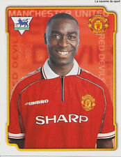 N°326 ANDY COLE MANCHESTER UNITED Premier League 1999 MERLIN STICKER VIGNETTE