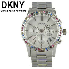DKNY SEXY LADIE'S MULTI-COLOR CRYSTALS LUXURY TOP WATCH  NY8722