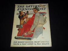 1937 APRIL 3 SATURDAY EVENING POST MAGAZINE - ILLUSTRATED FRONT COVER - GG 335