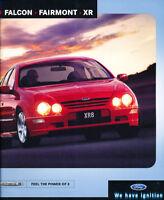 2002 Ford Falcon Fairmont XR8 XR6 Ghia Sales Brochure