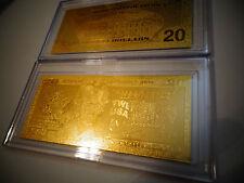 24 KARAT 99.9 % GOLD USA MINT $20 BILL*-EACH  COMES IN ACRYLIC,SLAB HOLDER -NEW