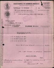 """MARSEILLE (13) SAVON """"Société Nouvelle de SAVONNERIE"""" en 1950"""