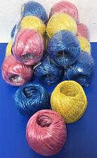 # 6x 3er Pack Paketschnur, 3 versch. Farben, 50m 3er Set, Strick, Schnur, Band