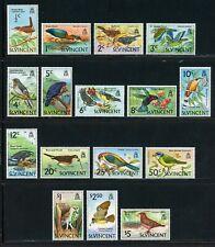 ST. VINCENT MH Selections: Scott #279-294 Birds Wildlife FAUNA CV$30+