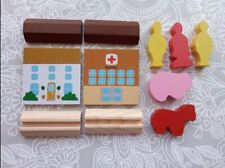 Wooden Train Set Accessories Buildings People FREE P&P