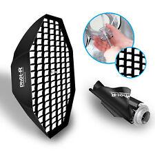 "Phot-R 150cm/59"" Octagon Umbrella Softbox Bowens Flash S Type Honeycomb Grid"