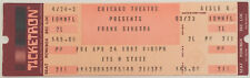 Frank Sinatra Concert Ticket Stub (April 24, 1987, Chicago Theatre)