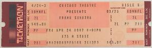 Frank Sinatra Concert Ticket Stub (April 24, 1987, Chicago Theatre)