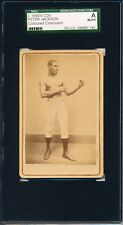 1880's Peter Jackson CDV Rare boxing card!  SEE MY OTHER BOXING CDV's!! SGC A