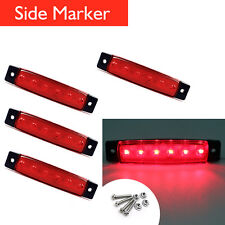 4x Red 6LED Side Marker Indicators Lights Lamp 12V for Lorries Truck Trailer BUS