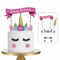 Cute Handmade Unicorn Cake Cupcake Topper Decoration Birthday Party Supplies