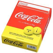 Coca-Cola Golf ball Yellow One dozen 12 Piece From Japan