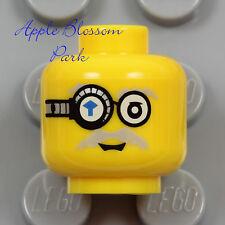 LEGO Robot MINIFIG HEAD - Power Miners Brains Gem Eye Glasses Monocle Scientist
