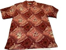 Tommy Bahama Mens Silk Palm Paradise Detective Undercover Man Salmon Small