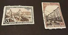 Rusia 1947 Crimea Bridge 5k y Gorky Park 10k SG 1286-7