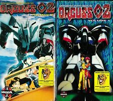 Orguss 02 volumes 1 and 2 VHS Anime Brand New