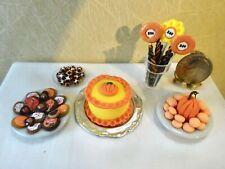 (5) Yummy Dollhouse Halloween Bakery Desserts 1:12 -Jackie Ann's Miniatures M388