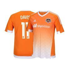 Brad Davis Houston Dynamo MLS Adidas Youth Orange Climalite Team Replica Jersey