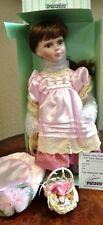 "Seymour Mann Connoisseur Collection Porcelain Dolls ""Stephanie"" Doll With Stand"