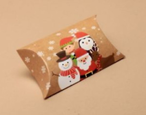 Xmas Pillow Gift Boxes - Jewellery Favour Christmas Gift Box - 24 Pack