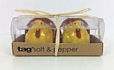 Ceramic Turkey Salt and Pepper Shaker Set by Tag Nib Thanksgiving Gold Autumn