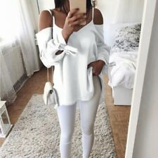 Fashion Summer Women Sexy Long Sleeve Shirt Casual Blouse Loose Tops T-Shirts