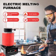 More details for 3kg automatic electric metal melting furnace forge gold copper aluminum 220v uk