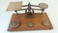 Vintage Brass Postal Scales , Postage Scales , Letter Scales