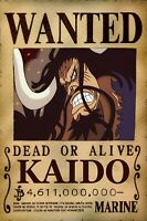 STICKERS AUTOCOLLANT TR.POSTER A4 MANGA ONE PIECE WANTED RORONOA ZORO DEAD OR A.