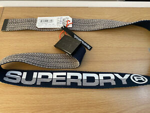 Superdry Reversible Belt - Navy/Grey Marl (One Size) BNWT