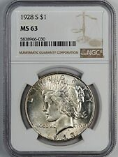 1928-S NGC MS 63 United States Peace Silver Dollar