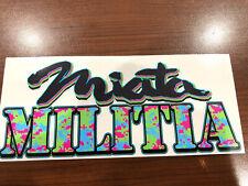 Mazda Miata Militia Vinyl Sticker Mx5 Neon Camo Limited Run Very Rare