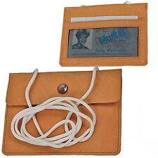 BOCCX kleiner einfacher Brustbeutel Leder Brusttasche Security Wallet GoBago