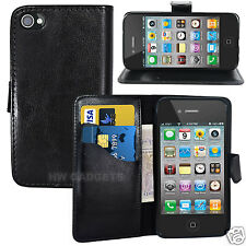 Leather Wallet Flip Case Cover for iPhone 4S / 4 - FULL BODY PROTECTION