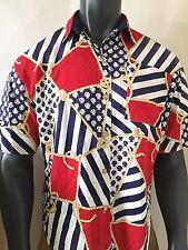 Vintage Sea Suns Mens Shirt Size Medium M Rope Sea Shells Design Sailor Theme