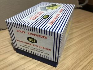 Dinky Toys #961 Blaw Knox Bulldozer  Original Empty Box ⭐️⭐️⭐️⭐️⭐️