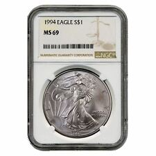 1994 US Mint $1 American Silver Eagle 1 oz Silver Coin | NGC Graded MS-69