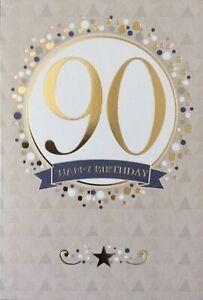 90th BIRTHDAY CARD MALE
