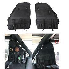 2Pcs Roll Bar Storage Bag Cargo Saddlebag Tool for 07~17 Jeep Wrangler JK 4-door